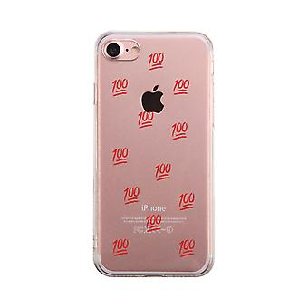 100 Points Transparent Phone Case Cute Clear Phonecase For Students