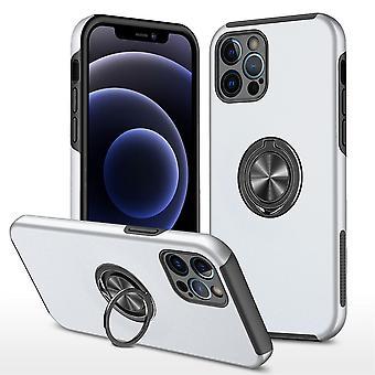 iPhone 13 Pro Max Hybrid skal med Finger Ring - Silver