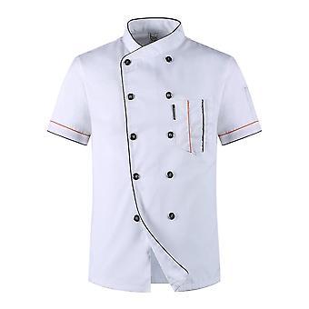 Unisex Kitchen Hotel Chef Uniform Bakery Food Service Cook Short