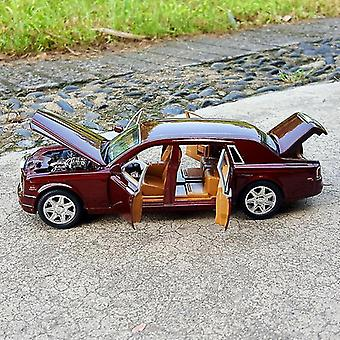 Toy cars 1:24 rolls royce phantom cohes alloy toys red