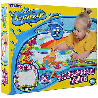 Toy drawing tablets e72772 super rainbow deluxe - large mess-free water drawing mat fun suitable for 18 months+