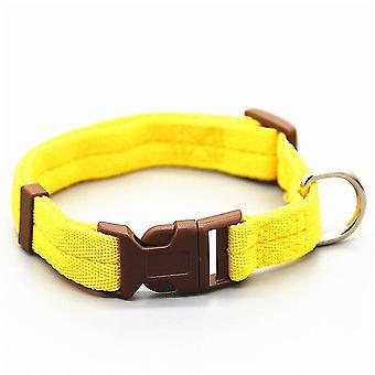 Muss verstellbare Nylon-Hundehalsbänder haben (L 30-50cm) (Gelb)
