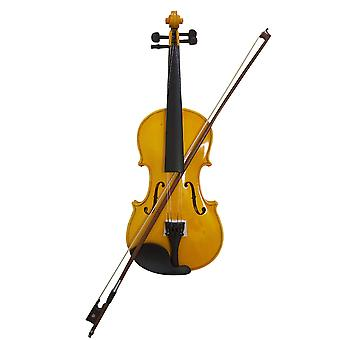 Student Acoustic Violin All Maple Spruce With Bow Rosin All Gold