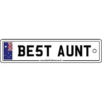 Australia - Best Aunt License Plate Car Air Freshener
