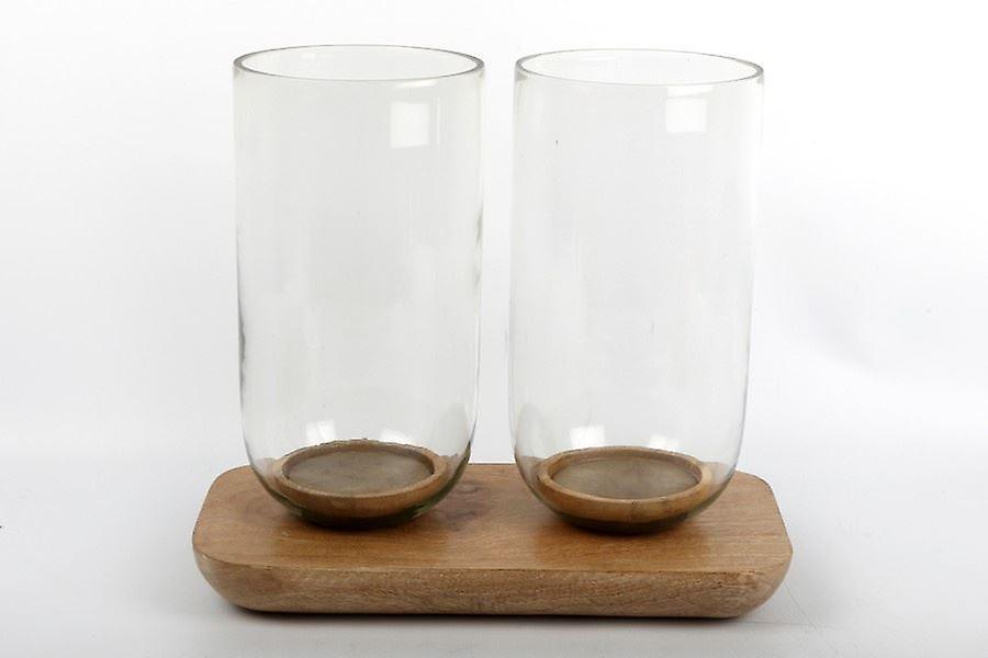 Doppelzimmer huricane glas teelicht halter kerzenstÄnder