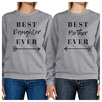 Best Daughter Mother Ever Grey Matching Sweatshirts Pullover Fleece