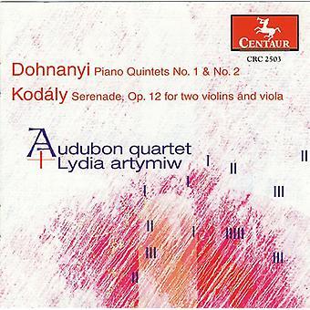 Dohnanyi, E./Kodaly, Z. - Dohnanyi: Piano Quintets Nos. 1 & 2; Kod Ly: Serenade, Op. 12 [CD] USA import
