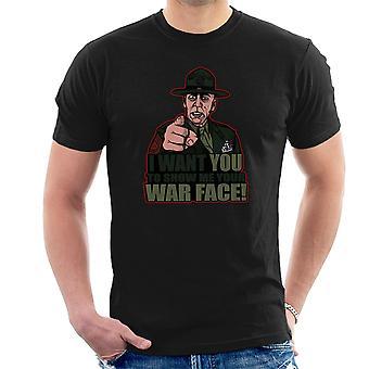 War Face Gunnery Sgt. Hartman Full Metal Jacket Men's T-Shirt