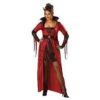 Viettelevä paholainen paha Halloween naisten puku Plus