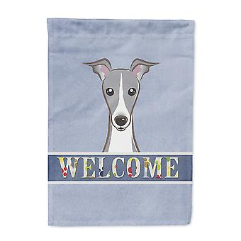 Carolines Treasures  BB1422CHF Italian Greyhound Welcome Flag Canvas House Size