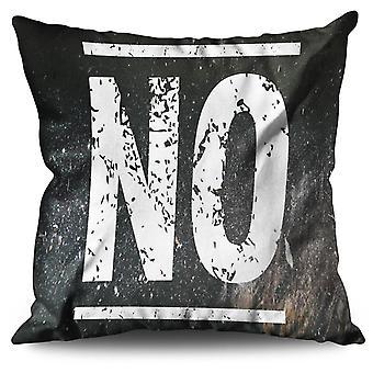 Simply No Funny Linen Cushion 30cm x 30cm | Wellcoda