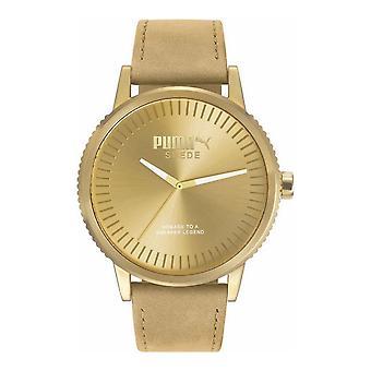 PUMA montre poignet montre unisexe monochrome beige daim PU104101009