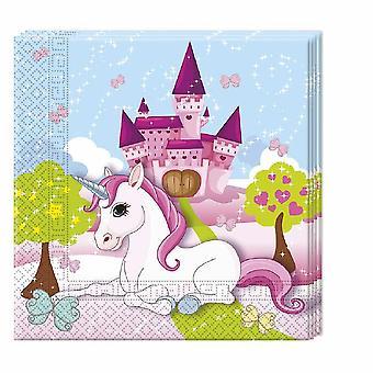 Unicornio unicornio fiesta servilletas 33 x 33 cm 20pcs niños tema fiesta de cumpleaños