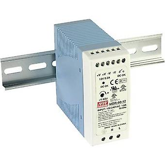 Mean Well MDR-60-5 Rail mounted PSU (DIN) 5 V DC 10 A 50 W 1 x