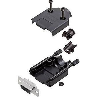 encitech DTPK-P-09-DMS-K 6355-0033-11 D-SUB-opvangbakje set 180 ° aantal pinnen: 9 soldeer emmer 1 set