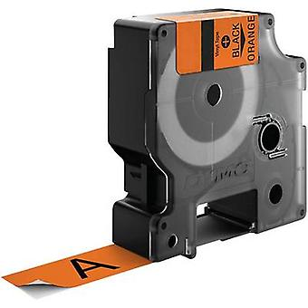 Etikettering tape DYMO IND RHINO 18435 Vinyl Tape kleur: Orange lettertype kleur: zwart 12 mm 5.5 m