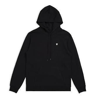 Brixton B escudo suéter con capucha negro