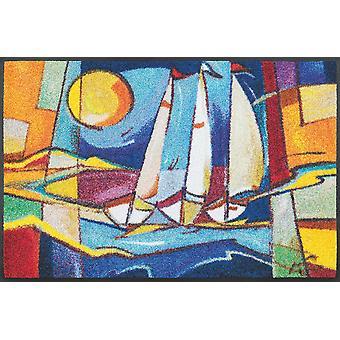 wash+dry Fußmatte Sailing home 50 x 75 cm waschbare Fußmatte