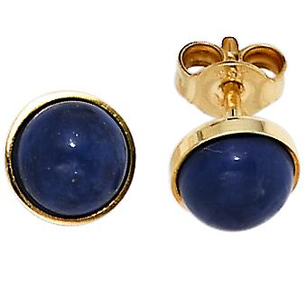 Lapsilazuli Stud Earrings BLUE 333 Gold Yellow Gold 2 Lapis blue earring gold