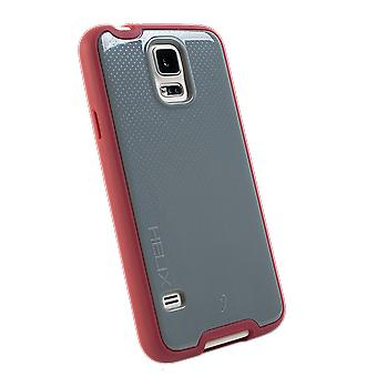 WirelessOne Helix Case for Samsung Galaxy S5 (Grey/Burgundy)