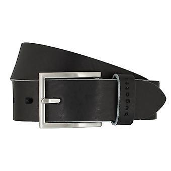 Mr. Bugatti belt full cowhide leather belt black 7373