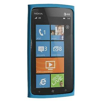 5 pakke -OEM Nokia Lumia 900 4G Slim støtfanger silikon Case - blå (0721871)