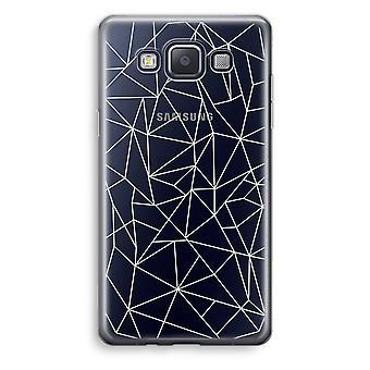 Samsung Galaxy A3 (2015) gjennomsiktig sak (myk) - geometriske linjer hvit