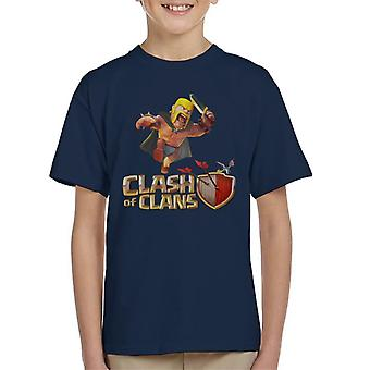 Clash Of Clans Barbarian Kid's T-Shirt