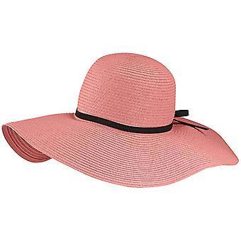 Womens Summer Wide Brim Fedora Cloche Floppy Hat - Pink