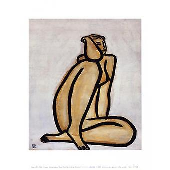 Seated Nude Poster Print by Sanyu (10 x 12)