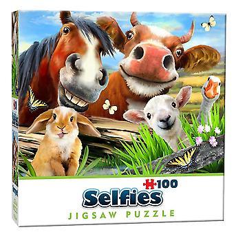 Gårdsuppfödda Selfie Mini pussel (100 stycken)
