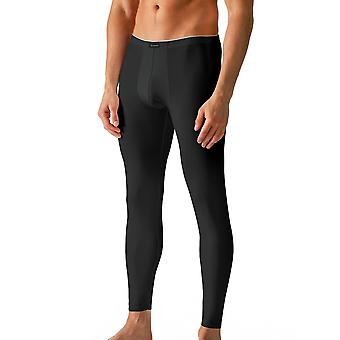 Algodão seco cor preta sólida tornozelo comprimento Leggings Mey 46042-123 masculino