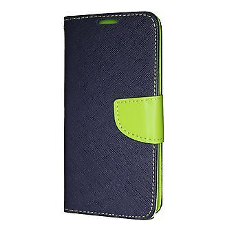 Huawei Mate 20 pikku lompakko kotelo fancy Case + ranne hihna Navy-Lime