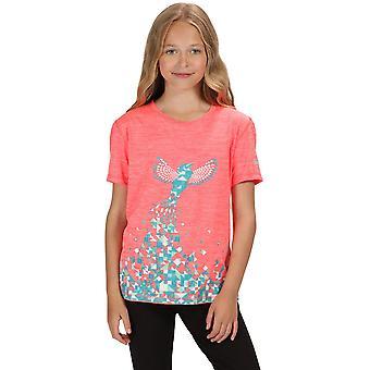 Regatta लड़कों और लड़कियों Alvarado चतुर्थ ग्राफिक लघु आस्तीन टी शर्ट