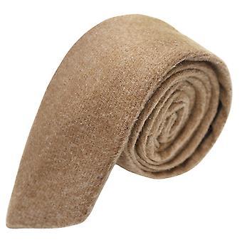 Krawat luksus wielbłąd brązowy Donegal Tweed