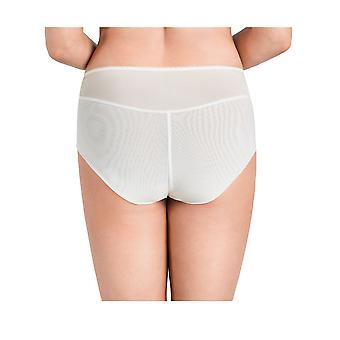 Nessa P2 Femmes-apos;s Helen Cream Off White Broded Knickers Panty Full Brief