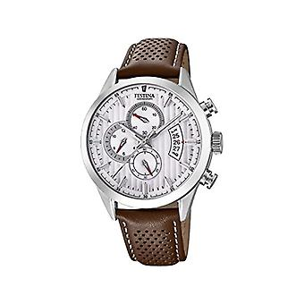 Festina watch Chronograph quartz men's watch with leather F20271-1