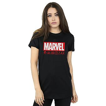 Marvel kobiet Logo umyć opieki chłopaka Koszulka