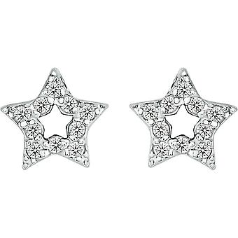 Bella avaa 5 kohta Cubic Zirkonia tähti korvakorut - Silver