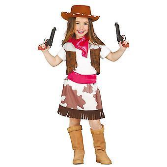 Girls Cowgirl Wild West Fancy Dress Costume