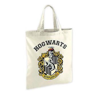 Harry Potter stof pose Hufflepuff Crest, trykt, 100% bomuld.