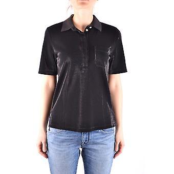 Jacob Cohen Ezbc054215 Damen's schwarze Baumwolle Polo Shirt