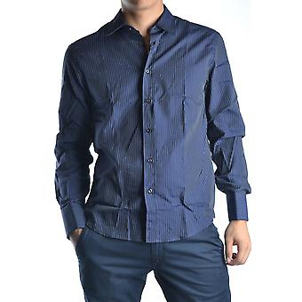 John Richmond Ezbc082007 Men's Blue Cotton Shirt
