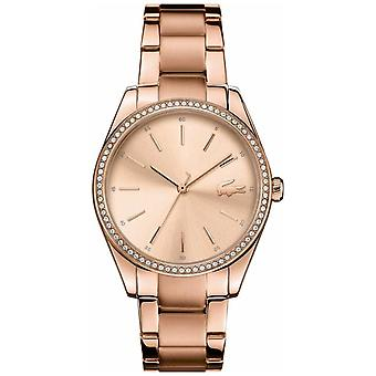 Lacoste Womens Parisienne Rose Gold PVD chapeado aço Pracelet 2001084 Watch