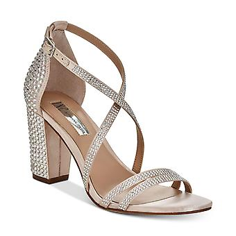 INC International Concepts Womens Kamma Fabric Open Toe Special Occasion Strappy Sandals