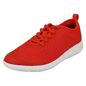 Childrens Boys Girls Clarks Lace Up Trainers Scape Soar K