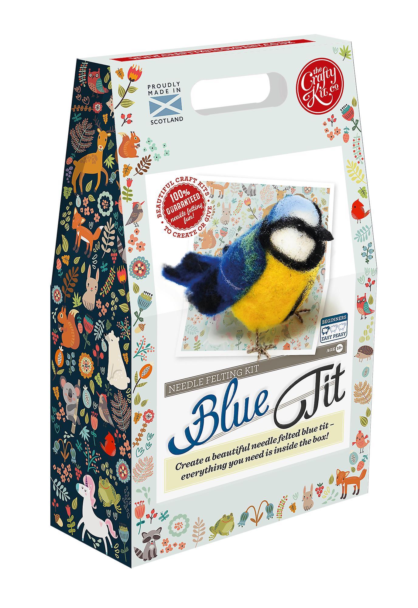 Blue Tit Needle Felting Kit