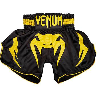 Venum Kids Bangkok Inferno Muay Thai Shorts - Black/Yellow