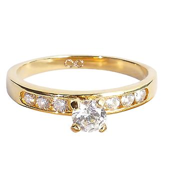 Ah! Schmuck Infinity simuliert Diamanten Verlobungsring 4,5 mm. 0,34 ct.