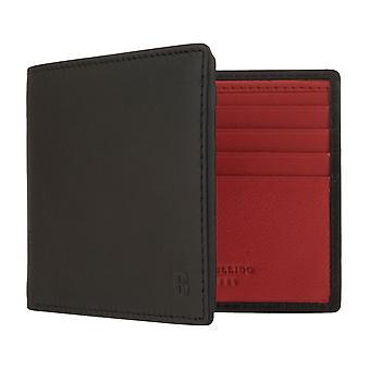 MIGUEL BELLIDO portfel portmonetka męska z ochroną chipów RFID czarny/czerwony 7962